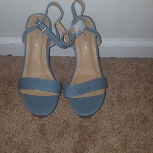 Blue jean wedges